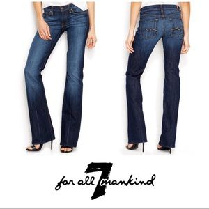 7 For All Mankind Classic Flare Denim Jeans 28 6